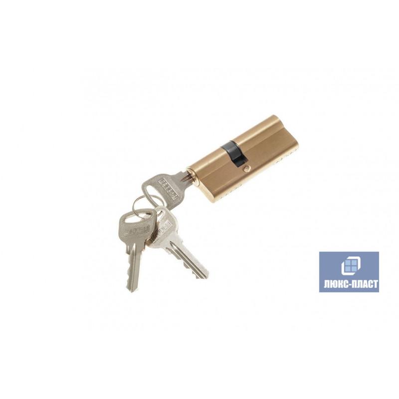 Двухсторонний профильный цилиндр ключ-ключ 40 х 40 мм