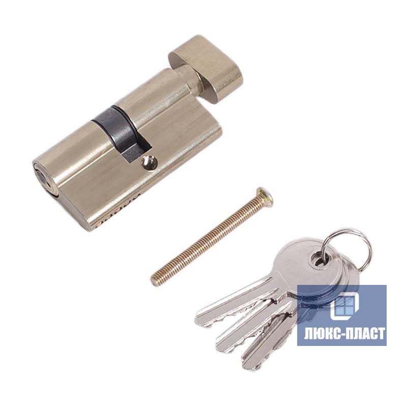 Двухсторонний профильный цилиндр ключ-ручка 35 х 45 мм