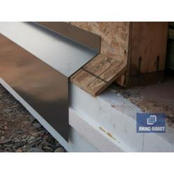 Конструкция на забор из отливного металла цвет коричневый
