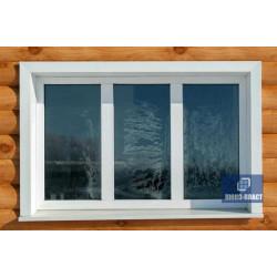 окно отделано снаружи углами  100х100 мм