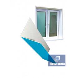фрагмент уголка пвх белого и окна