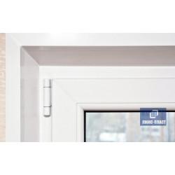 фрагмент балконной двери с отделкой уголком пвх