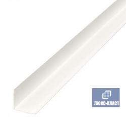 уголок белый пластик