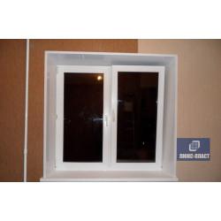 окно с откосами и уголками пвх