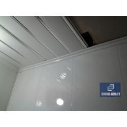 отделка помещения вагонкой и панелями пвх с использованием потолочной планки