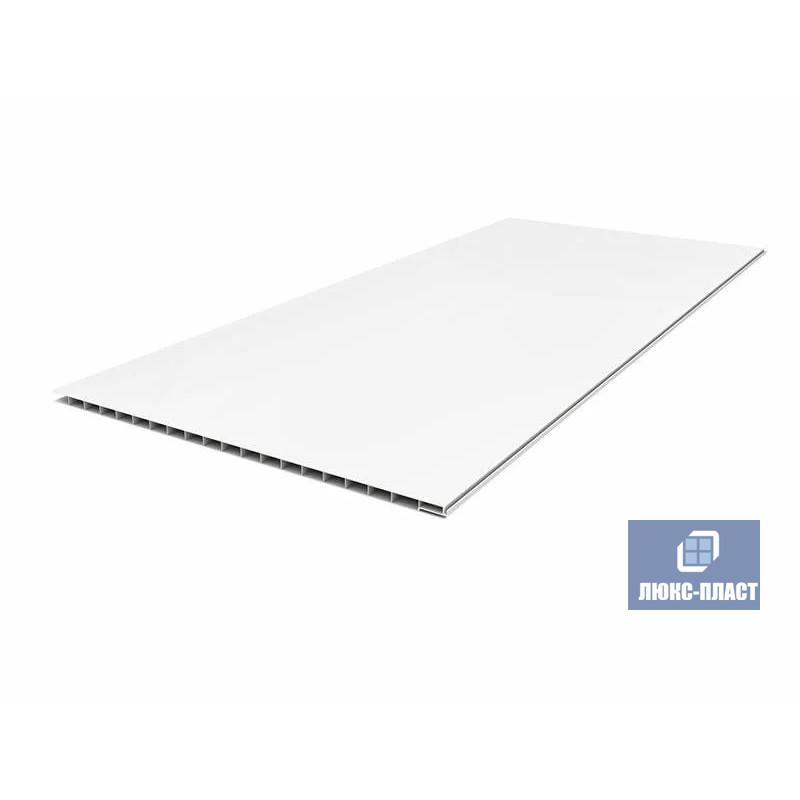 Пластиковая панель ПВХ матовая белая
